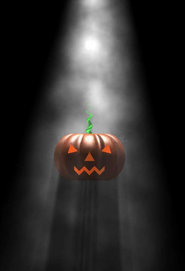 Download Halloween pumpkin, in fog stock illustration. Image of evil - 3258479