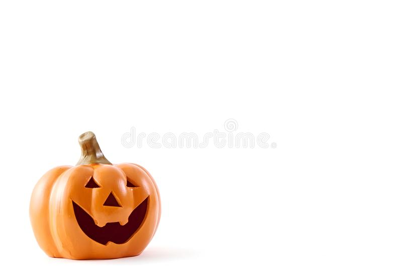 Halloween pumpkin happy face royalty free stock images