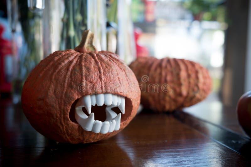 Halloween pumpkin head. Halloween carving ideas royalty free stock photography