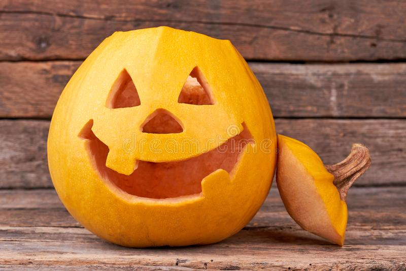 Halloween pumpkin head jack lantern. royalty free stock photography