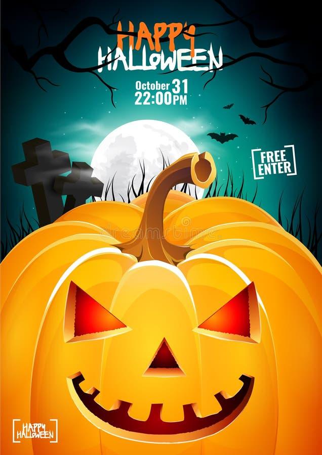 Halloween pumpkin head jack lantern poster stock photography
