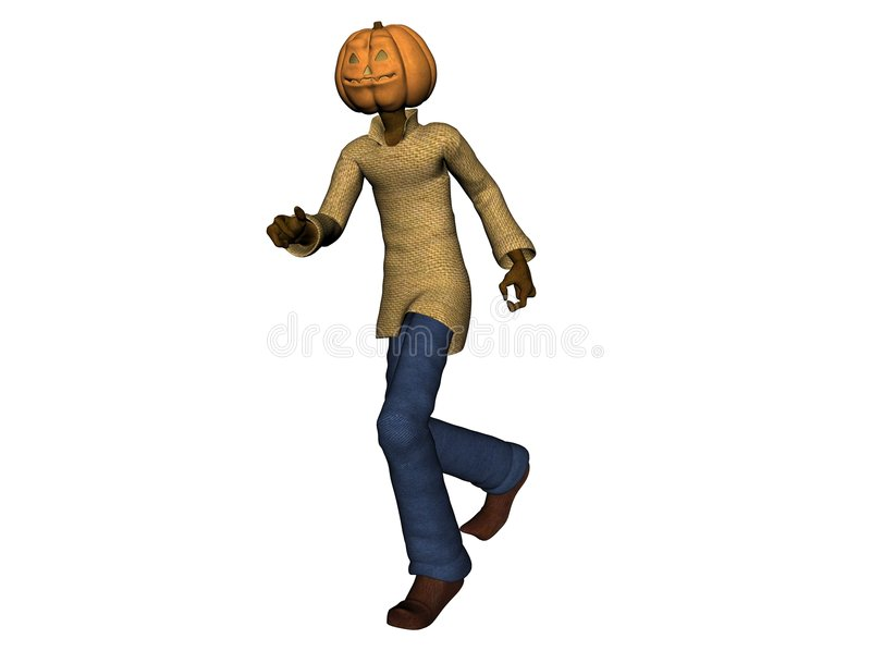 Download Halloween pumpkin head man stock illustration. Image of person - 2936458