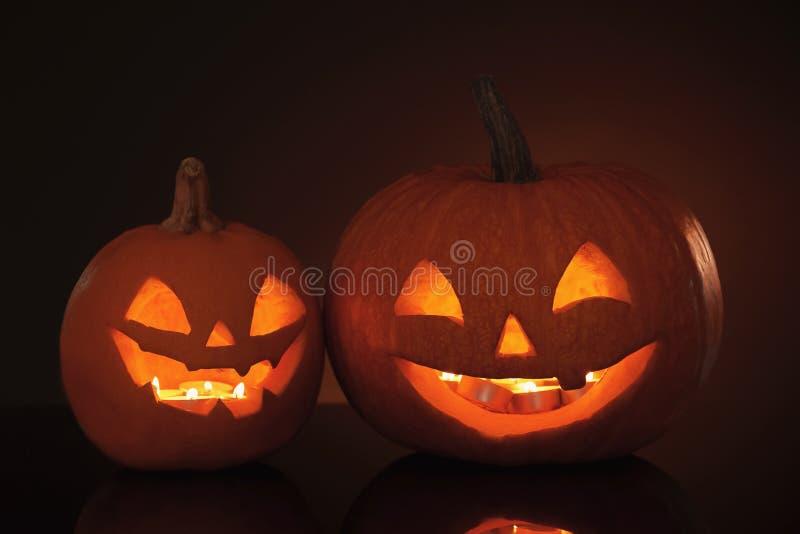 Halloween pumpkin heads royalty free stock photos