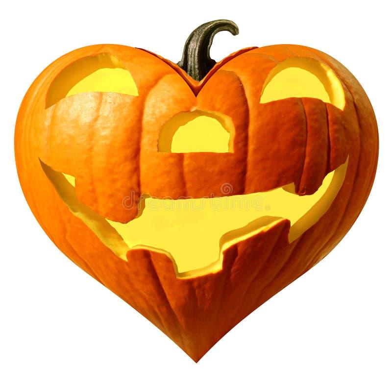 Halloween Pumpkin Heart stock afbeelding