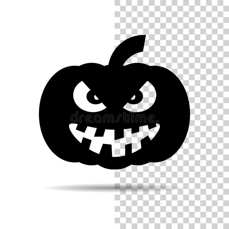 Free Halloween Pumpkin Icon Isolated Over White And Transparent Background Royalty Free Stock Image - 89112556