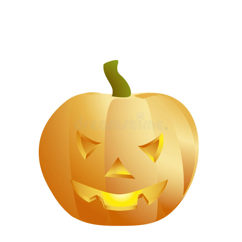 Halloween pumpkin isolated on a white. stock photography