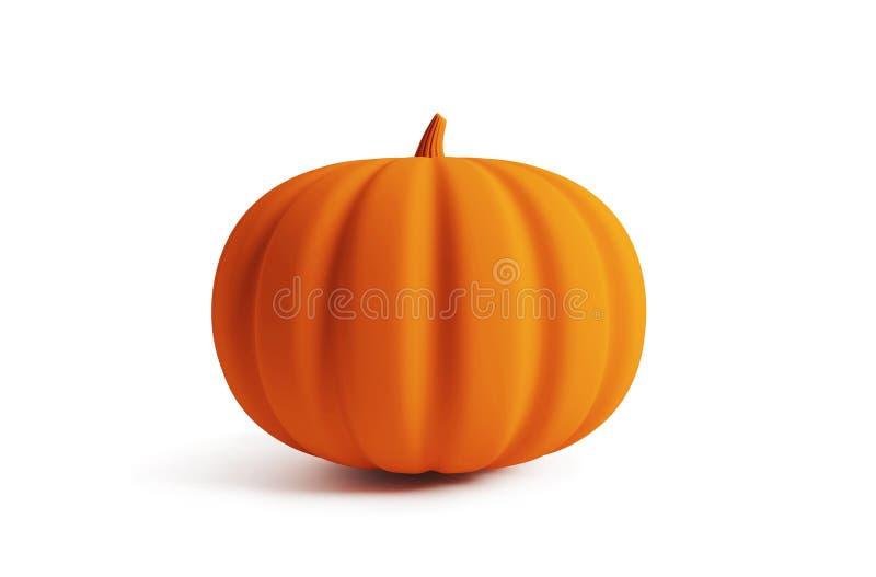 Halloween pumpkin isolated on white background. 3d rendering stock illustration