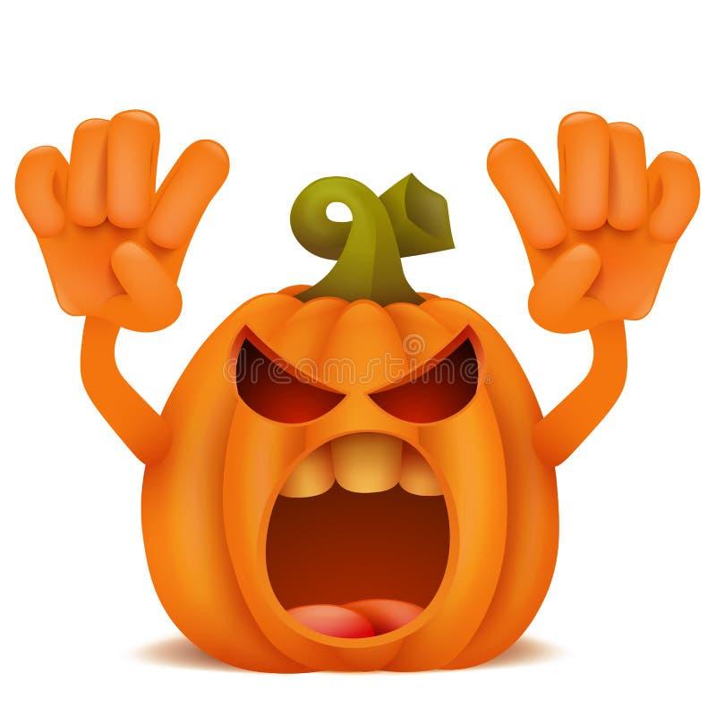 Download Halloween Pumpkin Jack Lantern Emoticon Cartoon Character. Stock Illustration - Image: 99160035