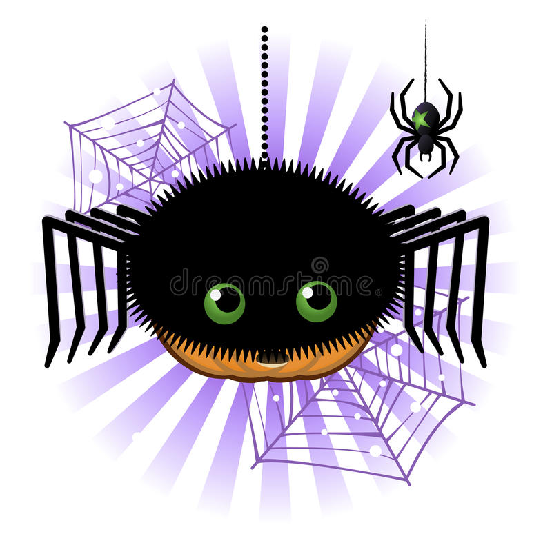 Download Halloween Pumpkin Jack O Lantern In Spider Costume Stock Illustration - Image: 26841067