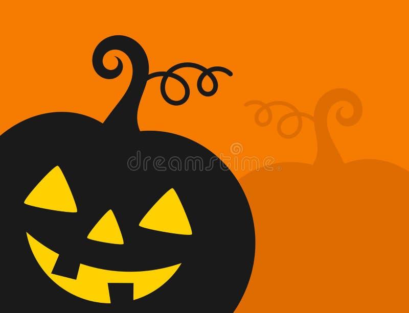 Halloween pumpkin lantern on orange background. Halloween party invitation. Vector illustration stock illustration