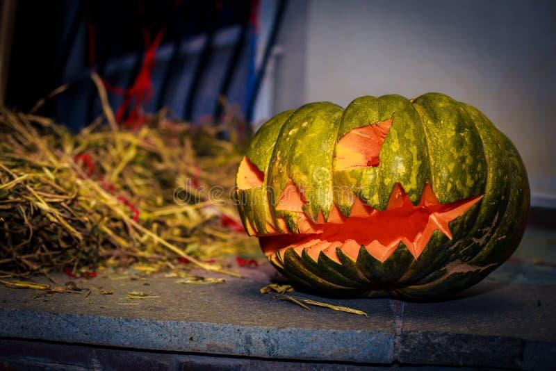 Halloween pumpkin lanterns - perfect decoration for Halloween. For design royalty free stock image