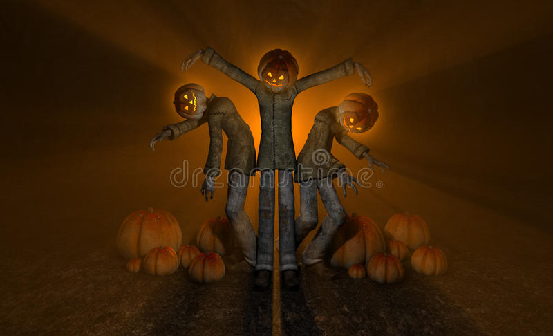 Download Halloween pumpkin man stock illustration. Image of horror - 27053648