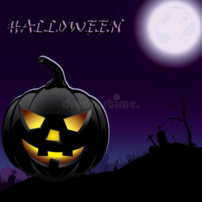Download Halloween Pumpkin In Moonlight Stock Vector - Illustration of moonlight, beast: 26140718