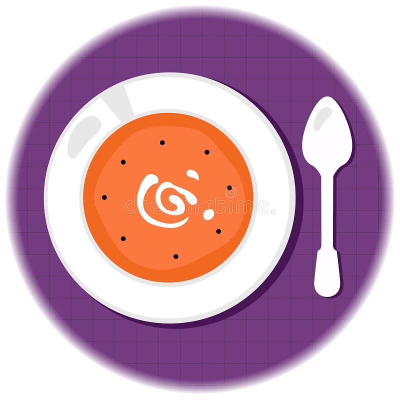 Halloween Pumpkin Orange Soup In Circle Stock Photos