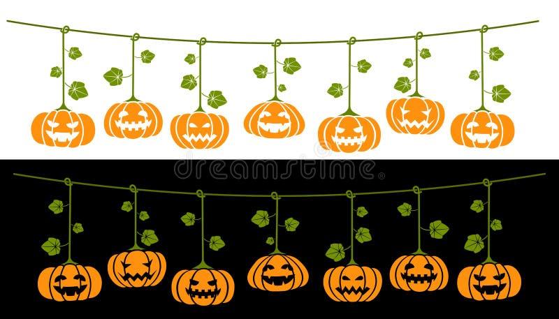 Halloween pumpkin set stock illustration