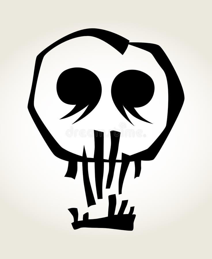 Halloween pumpkin skull design element stock illustration