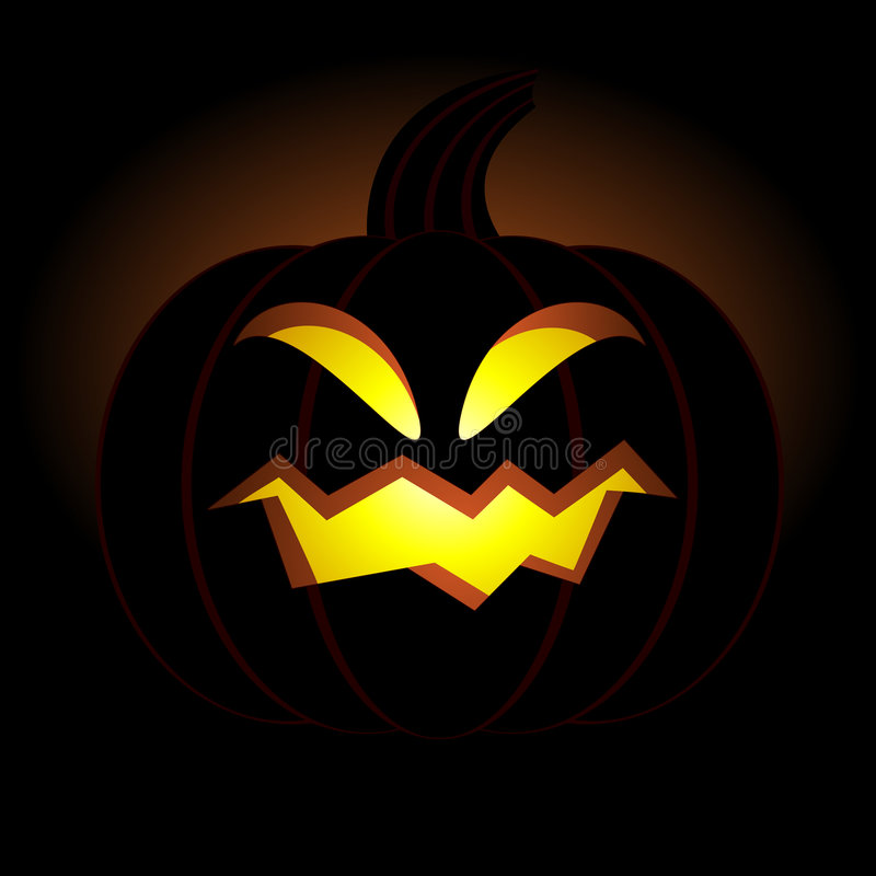 Halloween pumpkin with smile royalty free illustration