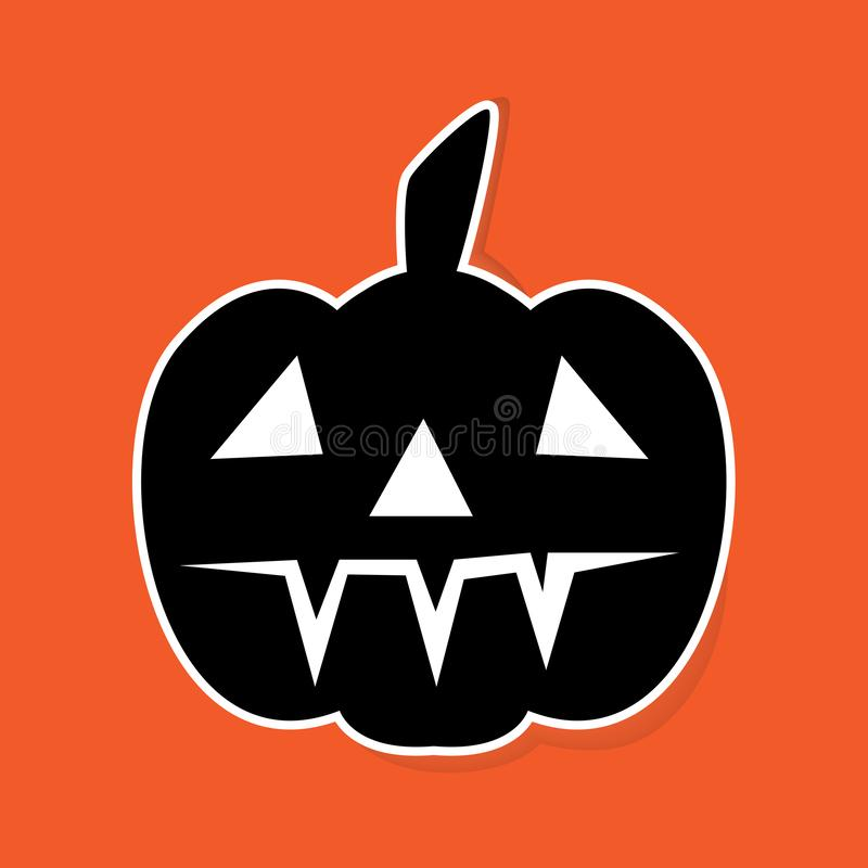halloween pumpkin Sticker. royalty free illustration