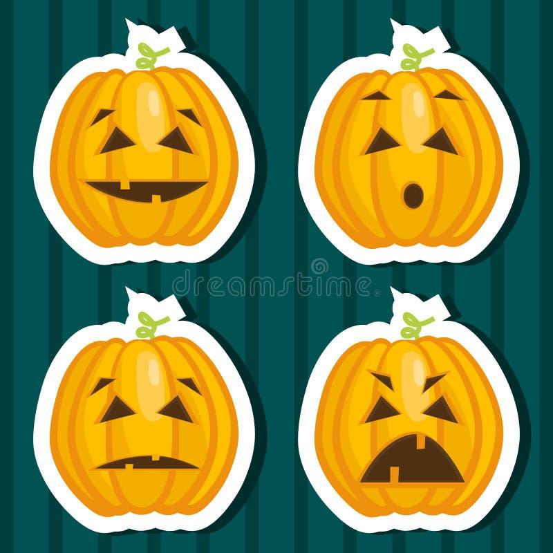 Halloween pumpkin stickers royalty free stock photos