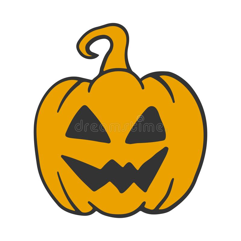 Free Halloween Pumpkin. Vector Concept In Doodle And Sketch Style Stock Images - 156618534