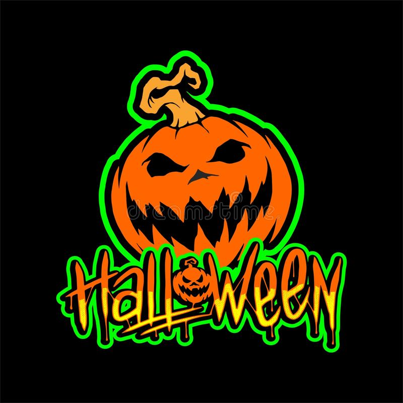 Halloween Pumpkin Vector Design stock photos