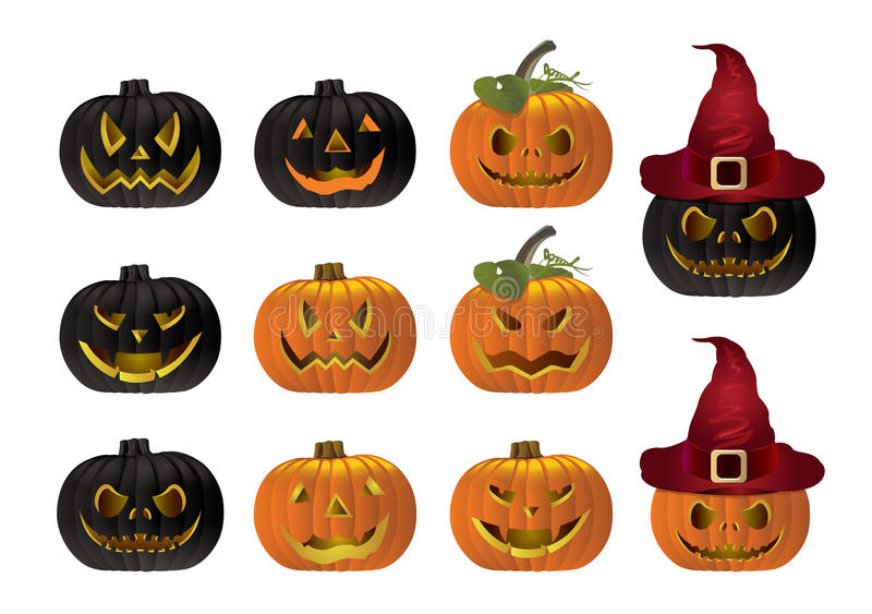Halloween pumpkin vector royalty free stock images