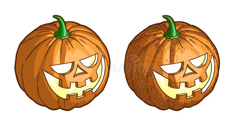 Halloween pumpkin vintage stock illustration