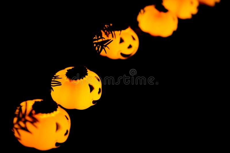 Halloween pumpkinks smiling copy space background stock photos