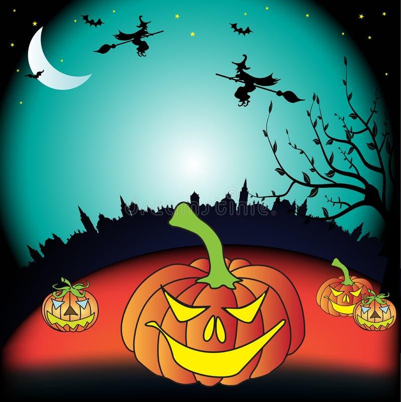 Download Halloween pumpkins stock vector. Image of buildings, fantasy - 10880188