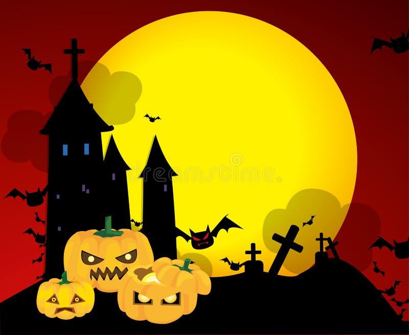 Download Halloween pumpkins stock vector. Image of haunted, autumn - 16244604