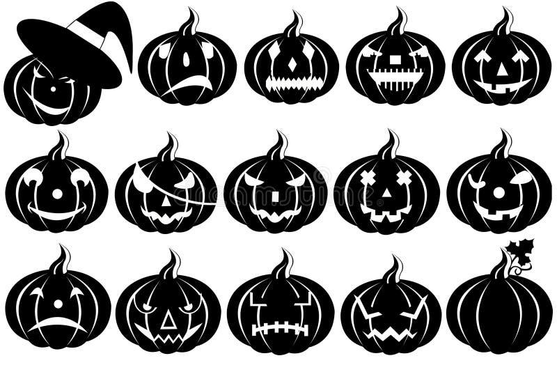 Halloween pumpkins vector illustration