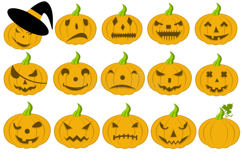 Halloween Pumpkins royalty free illustration