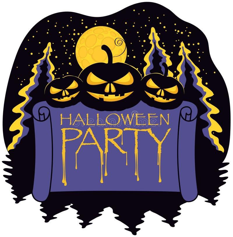 Download Halloween with pumpkins stock vector. Image of disco - 26554710