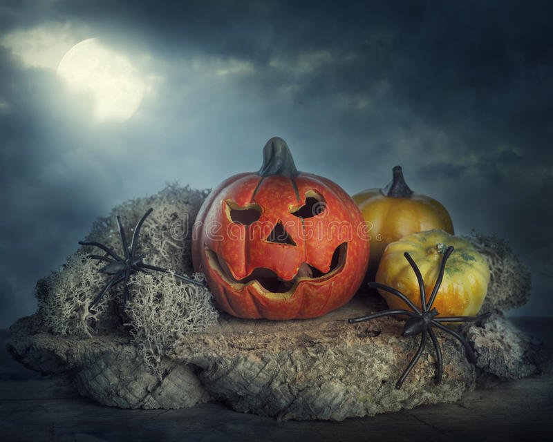 Download Halloween pumpkins stock photo. Image of haunting, dark - 26634116