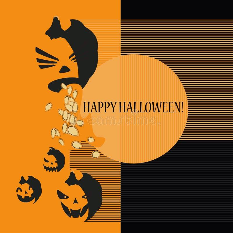 Download Halloween with pumpkins stock vector. Image of nightmare - 26672527