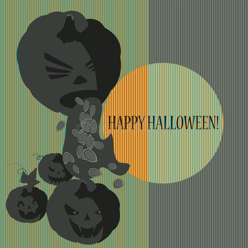 Halloween With Pumpkins Royalty Free Stock Photography