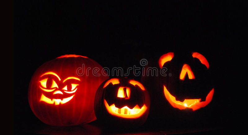 Download Halloween Pumpkins stock image. Image of lantern, fear - 6871873