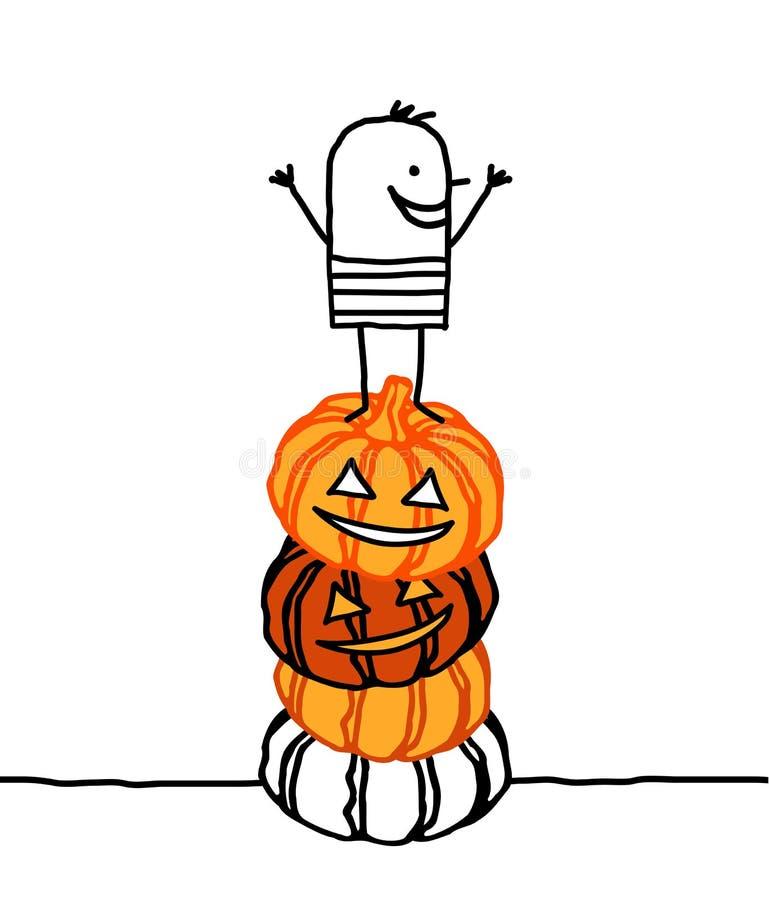 Download Halloween & pumpkins stock vector. Image of line, character - 9381818