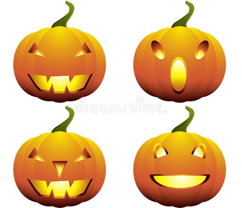 Halloween Pumpkins Collection royalty free illustration