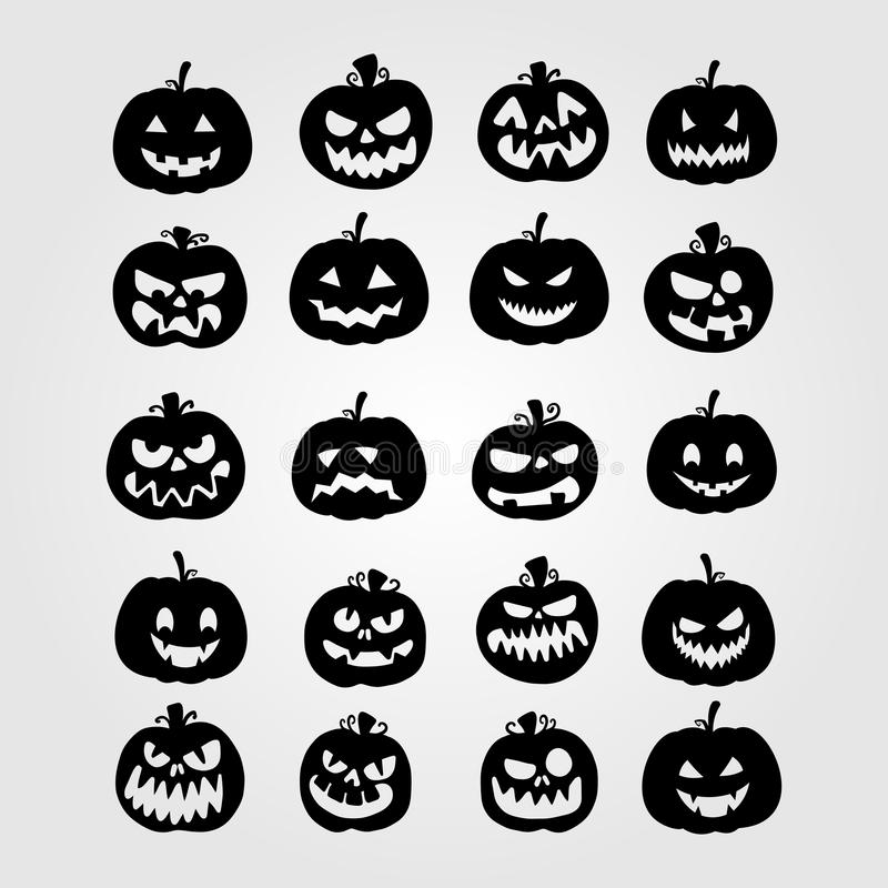 Halloween Pumpkins Collection Set. Eps 10 royalty free illustration