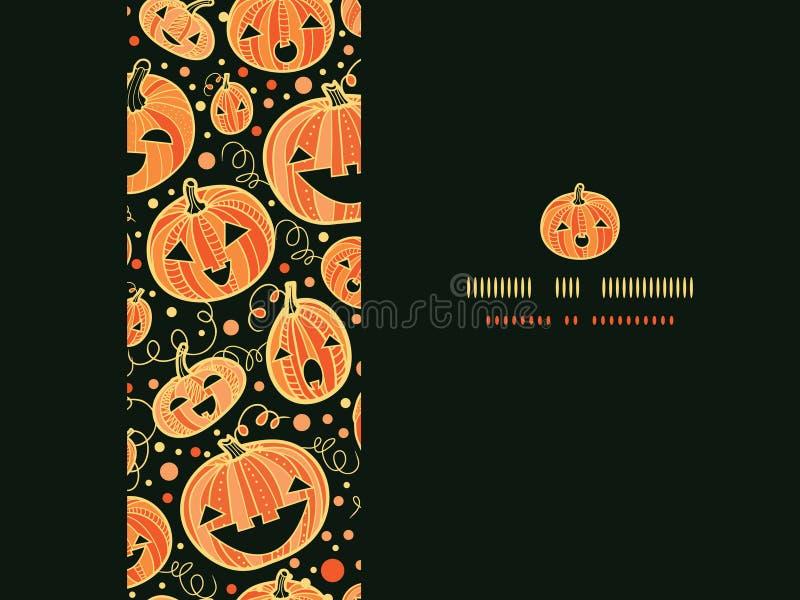 Halloween Pumpkins Horizontal Frame Seamless Royalty Free Stock Images