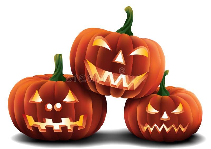 Halloween Pumpkins Isolated royalty free stock photos