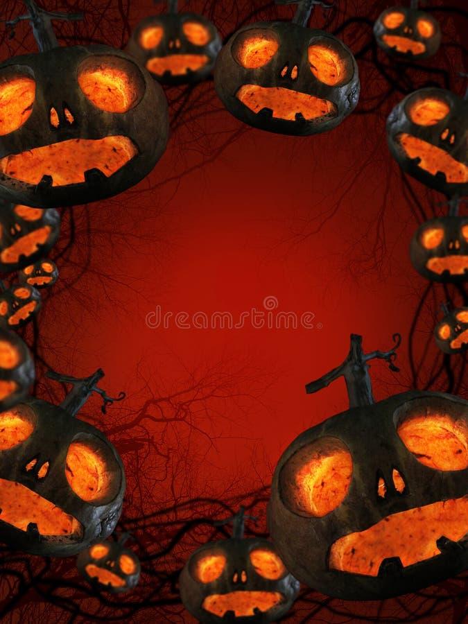 Halloween pumpkins at night. Halloween orange pumpkins at night sample your text stock photography