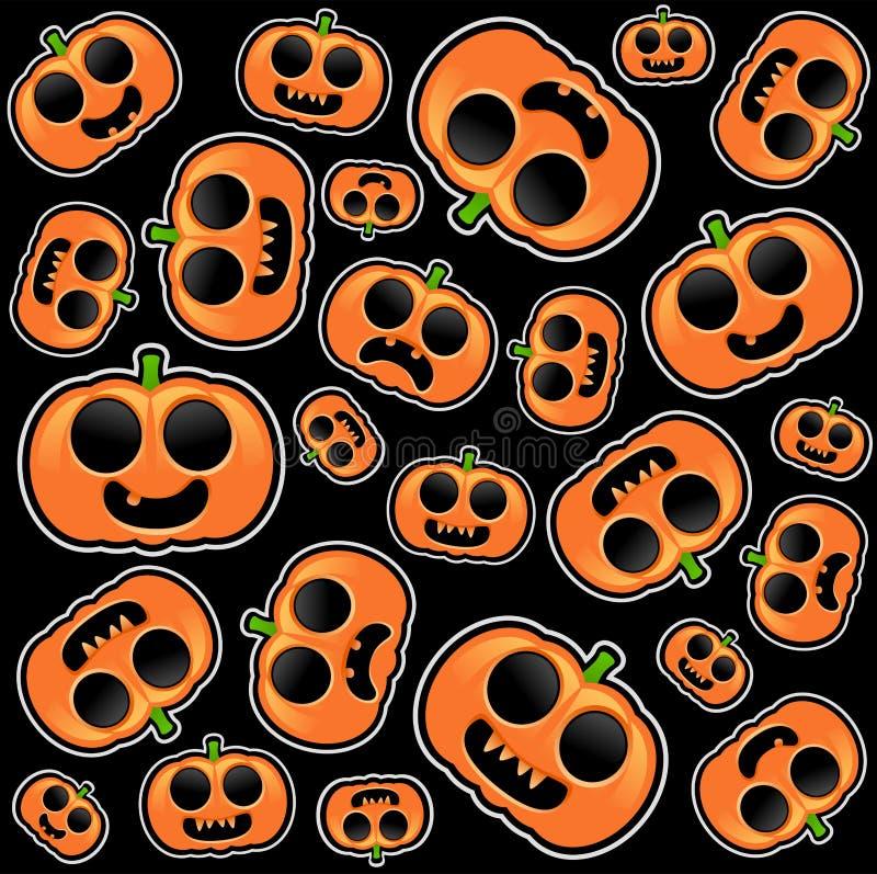 Halloween pumpkins seamless background vector illustration