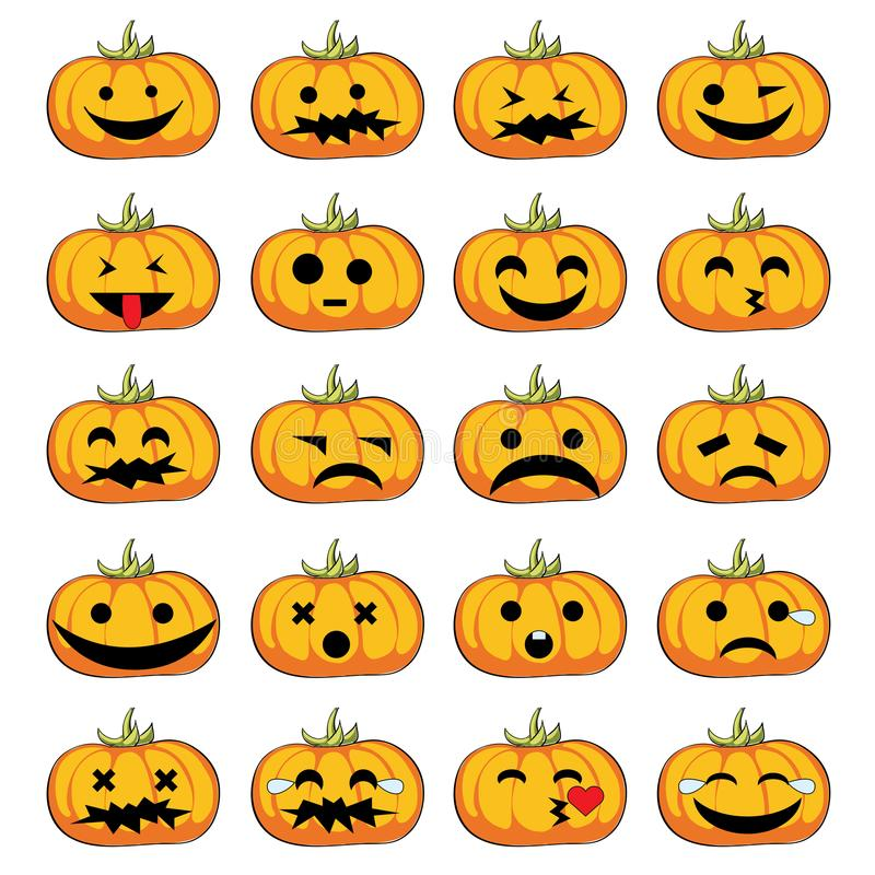 Halloween pumpkins smiles stock photo