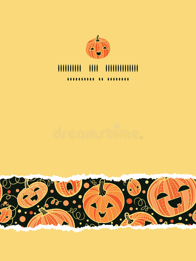 Download Halloween Pumpkins Vertical Torn Frame Seamless Stock Vector - Illustration: 34081194