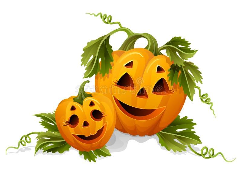 halloween pumpor vektor illustrationer