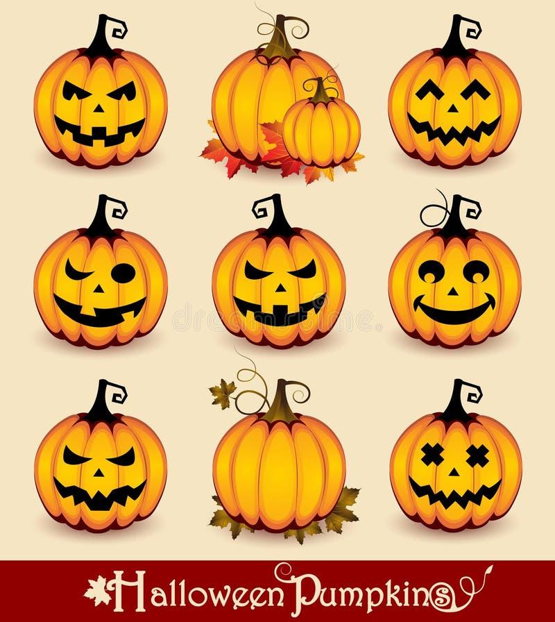halloween pumpor royaltyfri illustrationer