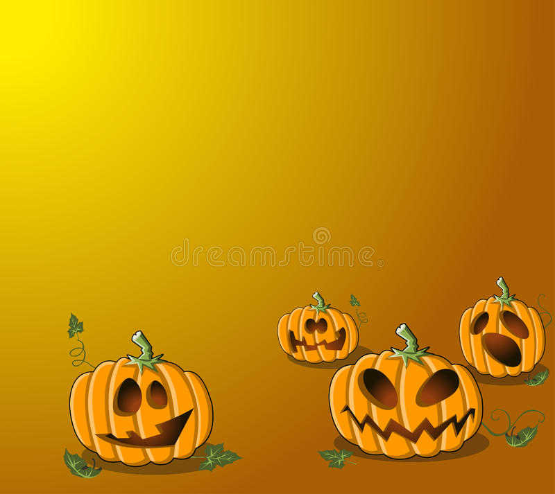Halloween pumpor royaltyfri illustrationer