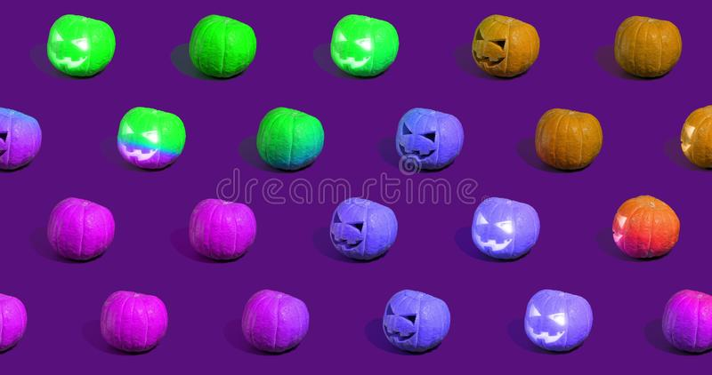 Halloween-pumpor eller Jack o`Lantern royaltyfria foton